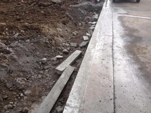 After Horizontal Conctrete Curb Cut